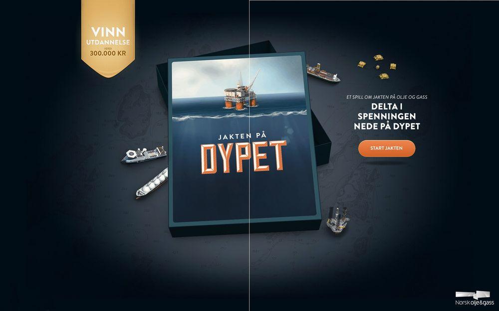 Norsk olje og gass lover tre år utdanning i premie til vinneren av spillet Jakten på Dypet.