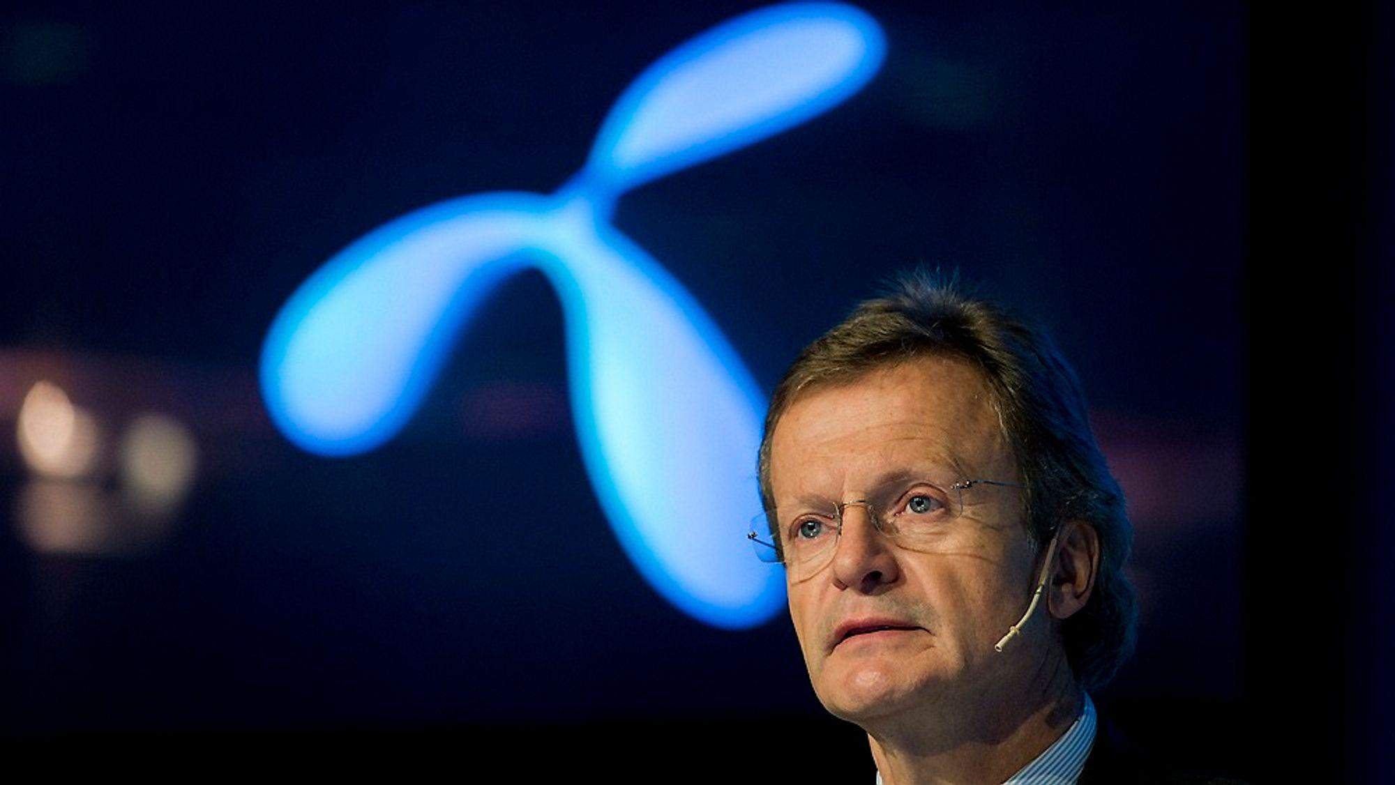 Telenor-sjef Jon Fredrik Baksaas kan notere at mobildatabruken til de norske kundene gir gode resultater.