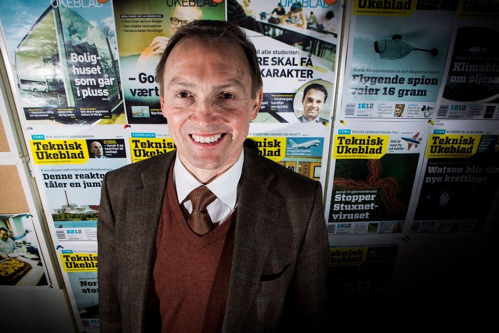 Bekymret: Generalsekretær i Nito, Steinar Sørlie, er bekymret over at annonseinntektene faller så fort.  Foto: Håkon Jacobsen