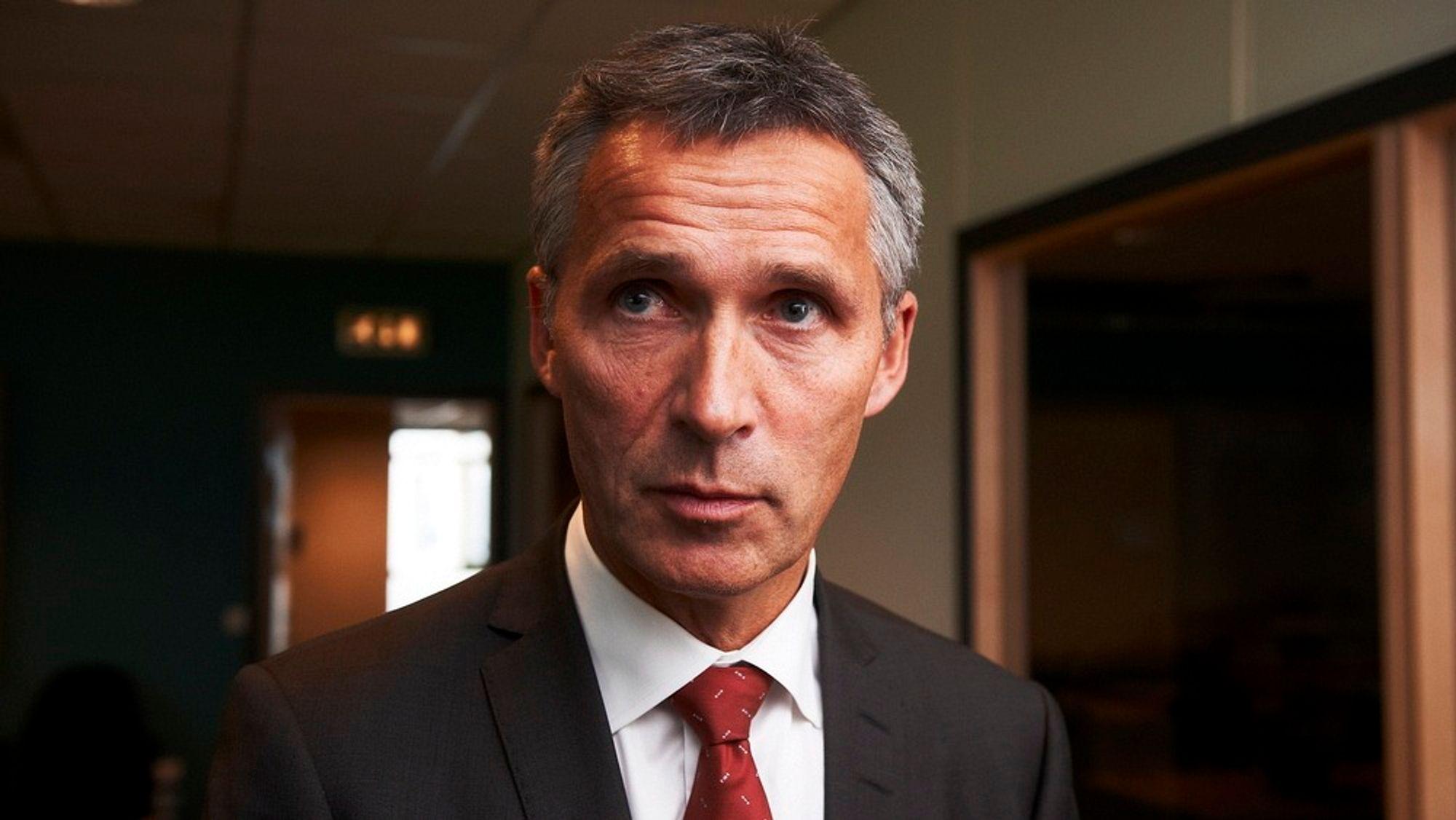 TREG? Statsminister Jens Stoltenberg sier at staten KAN bygge store, sammenhengende prosjekter.