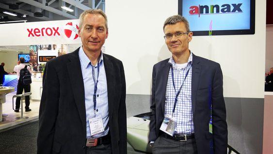 På sporet: Sjefen for Oslo Vognselskap, Erik Lund og prosjektleder Ingvar Fleten var på Innotransmessen i Berlin for å treffe mulige leverandører til ny Oslotrikk.
