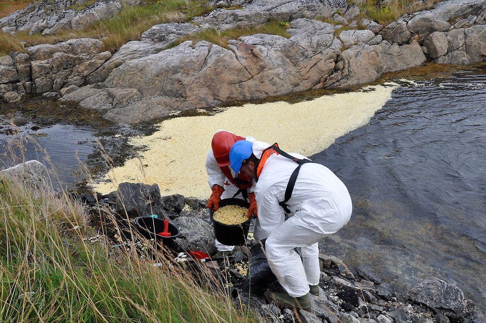 POPCORNUTSLIPP: Scenarioet for øvelsen var et undervannsutslipp fra Goliat-feltet i Barentshavet.