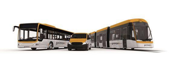 Alt på strøm: Både trikker, busser og biler kan lades induktivt og kjøre på batteristrøm uten kontaktledning eller forbrenningsmotorer