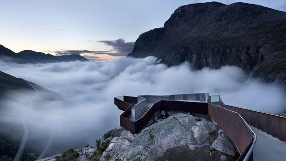 Anlegget på Trollstigen får Betongtavlen 2012 for fremragende arkitektur og førsteklasses bruk av betong