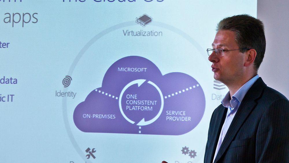 Stor tro: John Henrik Andersen er ansvarlig for Windows Server 2012 i Microsoft Norge og vil tilby knallhard kamp om virtualiseringskundene.