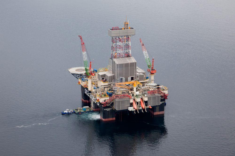 Krenget: Scarabeo 8  krenget syv grander i Barentshavet for to uker siden. Foto: Eni