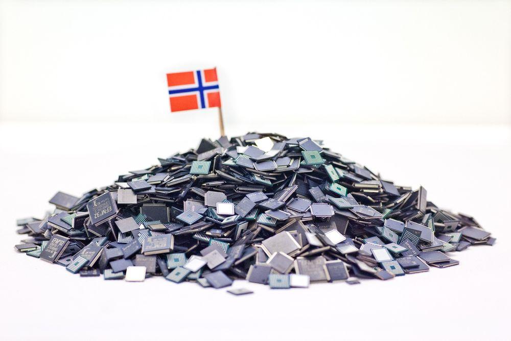 Prosessorfjellet: De er ikke store, mikrokontrollerne som Energy Micro produserer. Men de norske brikkene har fått svært god mottakelse i markedet på grunn av sin store ytelse og lave strømforbruk.
