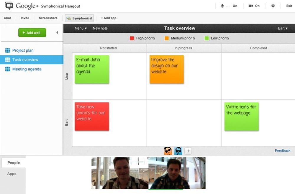 Appen er et slags elektronisk whiteboard som kan brukes til å organisere samarbeid og møter i organisasjoner og blant venner.