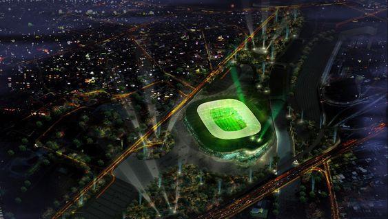 Timsah Arena i Bursa, Tyrkia, blir den nye hjemmebanen til Bursaspor.