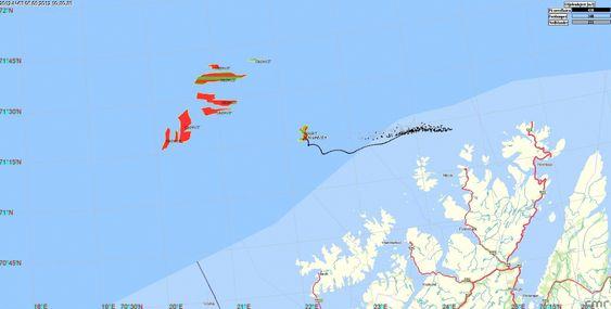 NOFO beregnet denne drivbanen for oljen fra Goliat under storøvelsen på Finnmarkskysten.
