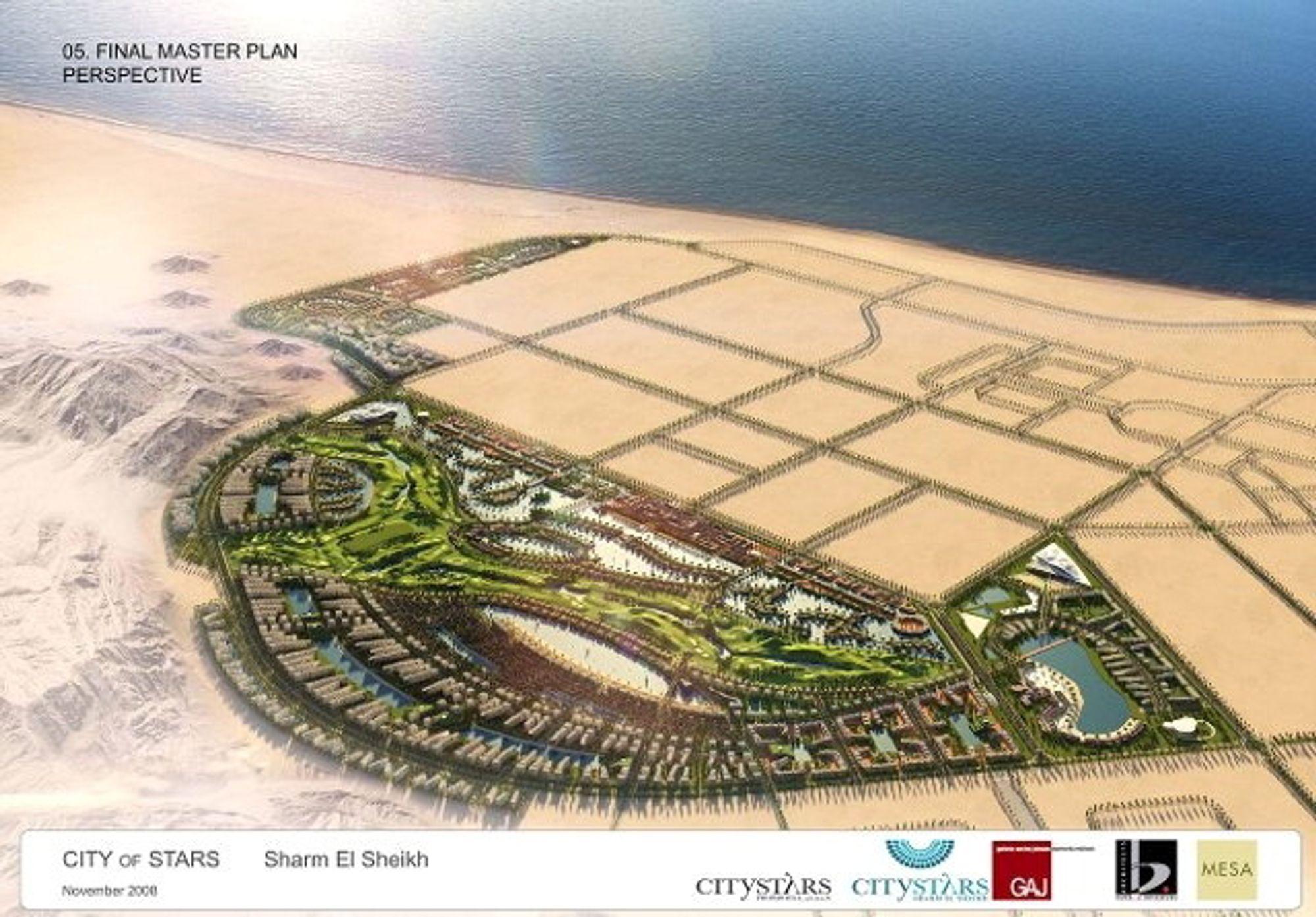 Her er planen for verdens største svømmebasseng ved Sharm el-Sheikh.