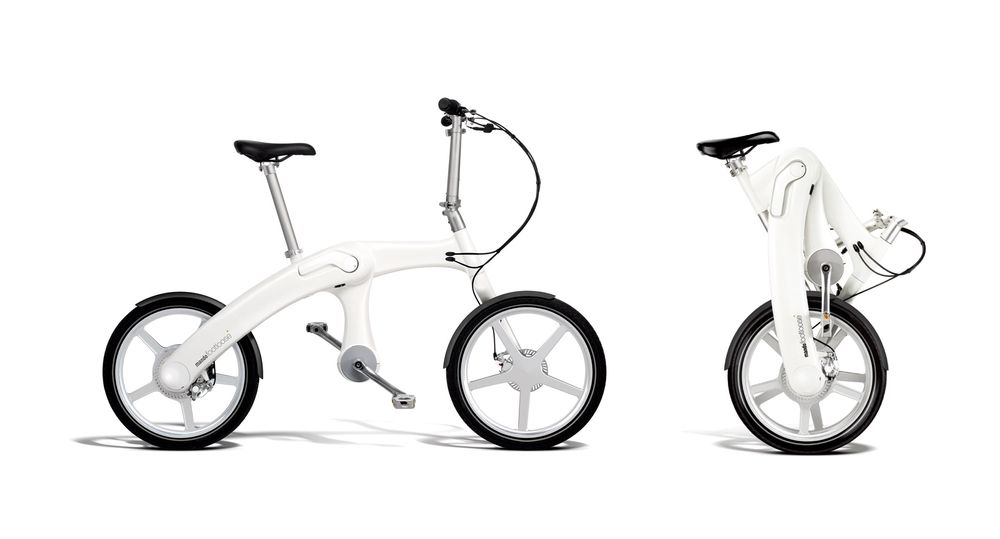 Den sammenleggbare sykkelen fra Mando bruker hybridteknologi i drivsystemet.
