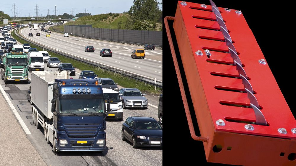 I Danmark hindrer sensorstyrte pigger bilister fra å havne i feil kjøreretning på motorveier.