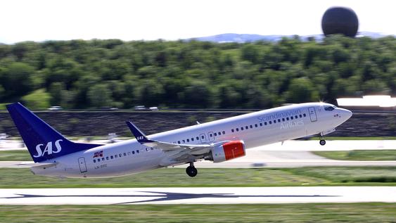 Det var bortimot debut på Bodø Air Show også for dette ruteflyet: Et splitter nytt 737-800 som SAS har fått tak i ved å hoppe inn i bestillingen fra et annet europeisk flyselskap som måtte kansellere.