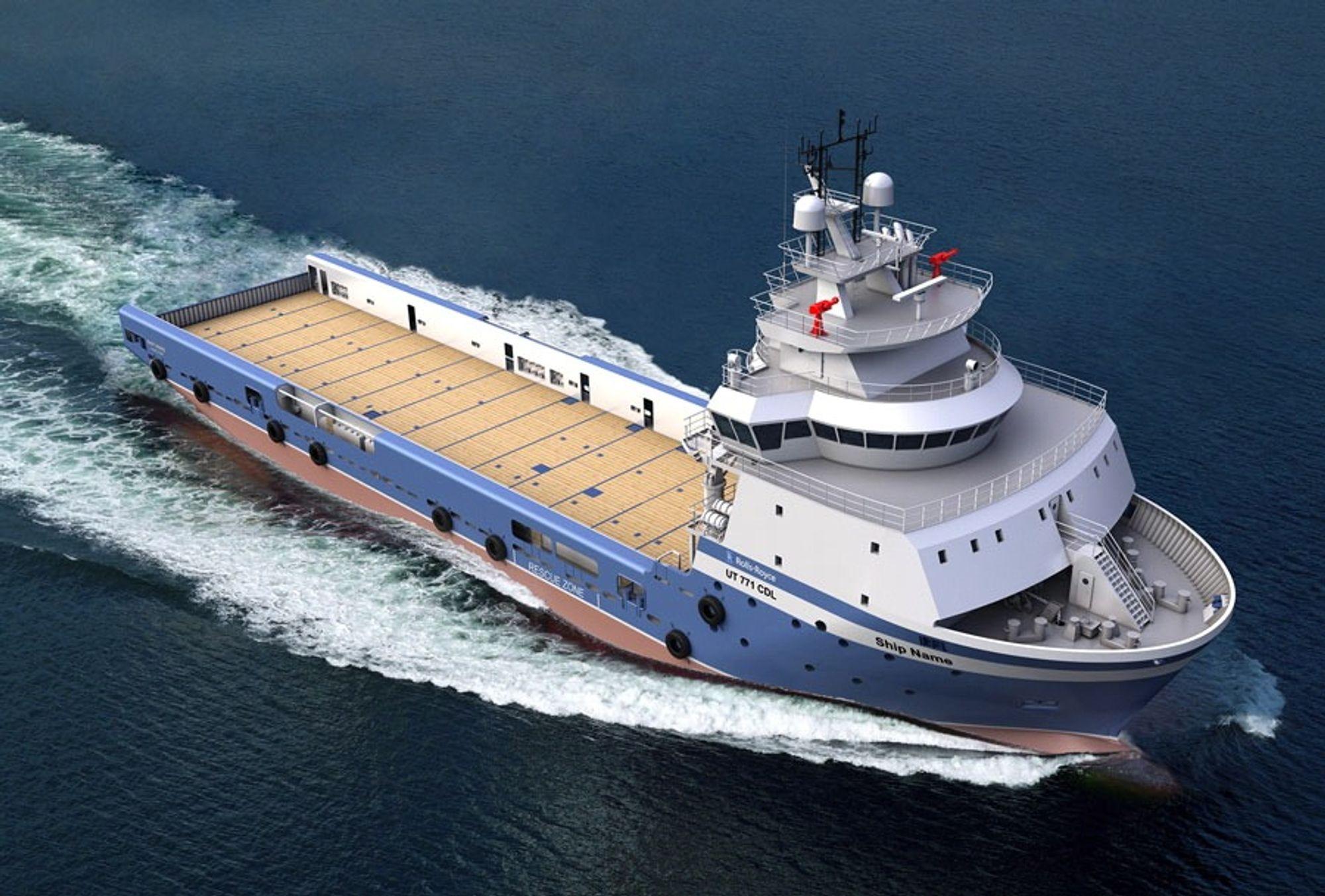 KINESER: UT 771 CDL for et amerikansk rederi. Bygges av COSCO i Guangdong, Kina.