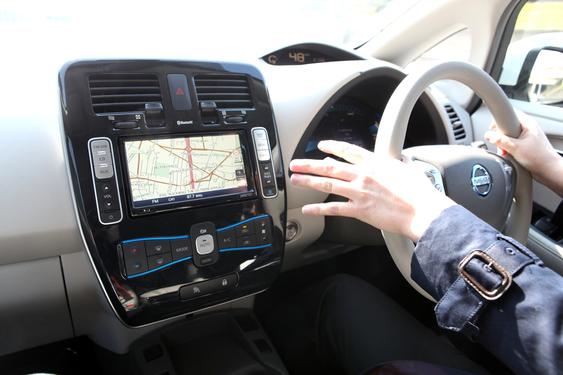 """KOMFORTABEL: Mest av alt ligner Nissan Leaf en """"vanlig"""" bil, med alt av komfort vi er vante med."""