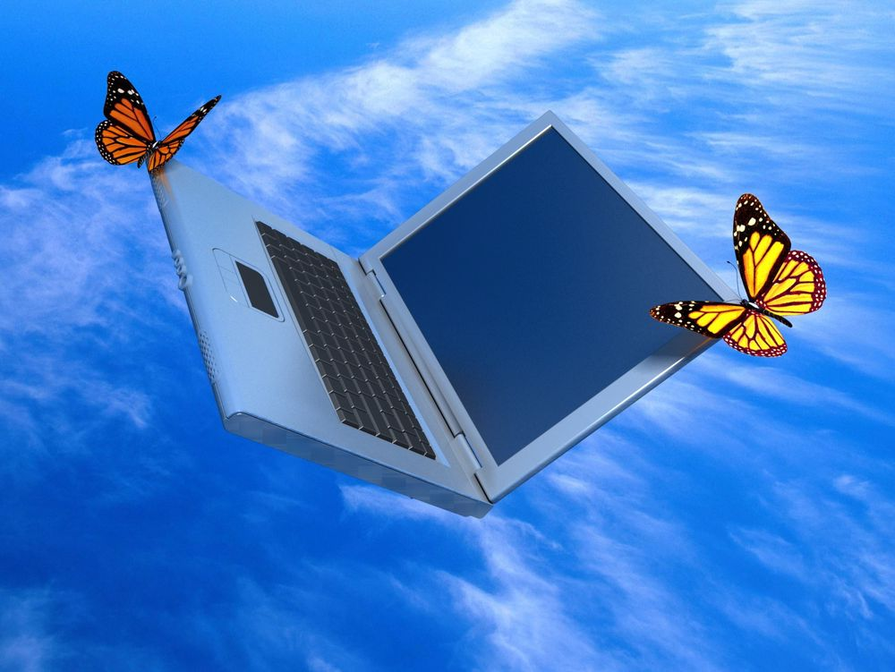 Weightless laptop Nettskyen