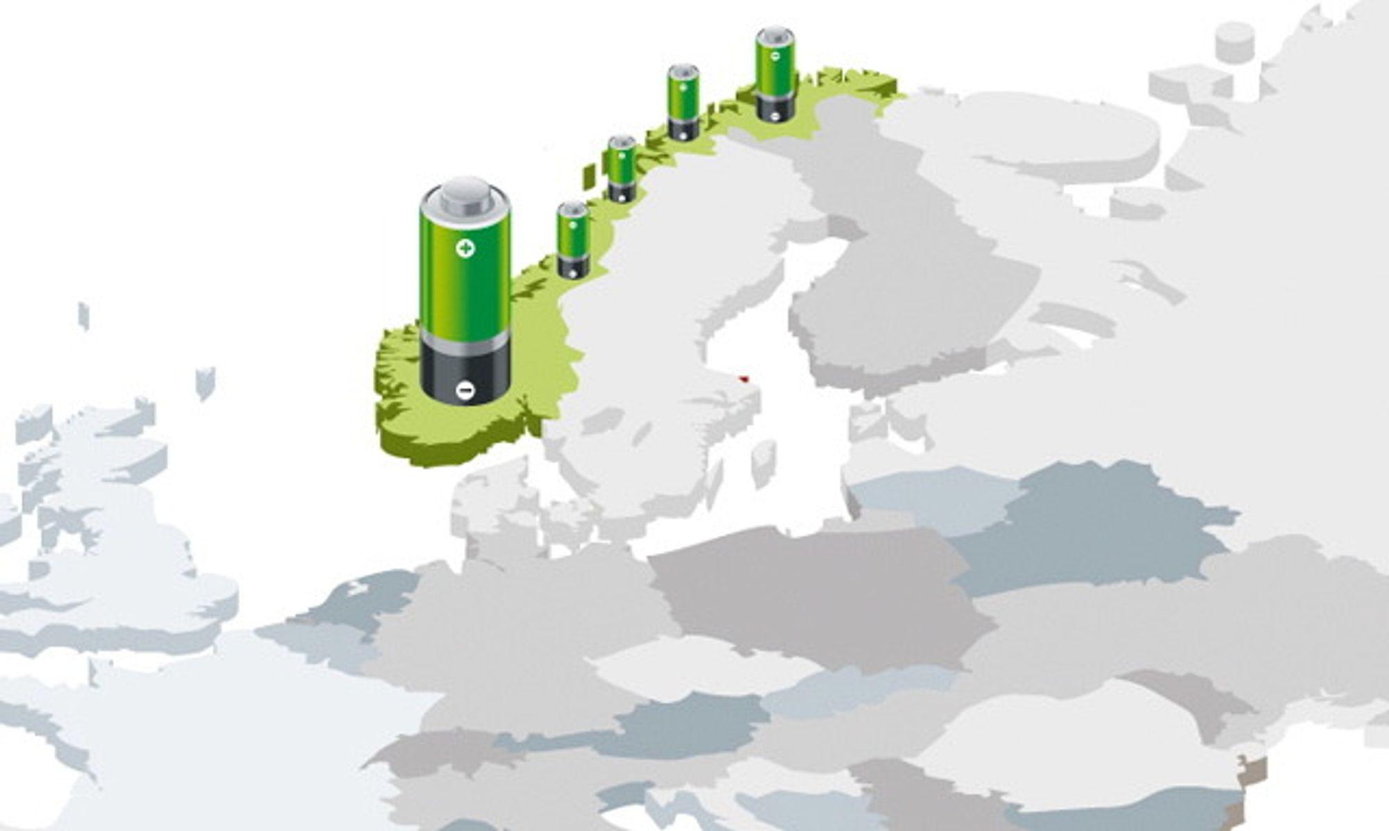 EUROPAS GRØNNE BATTERI: Norge har bedre forutsetninger enn mange andre for å lagre energi.