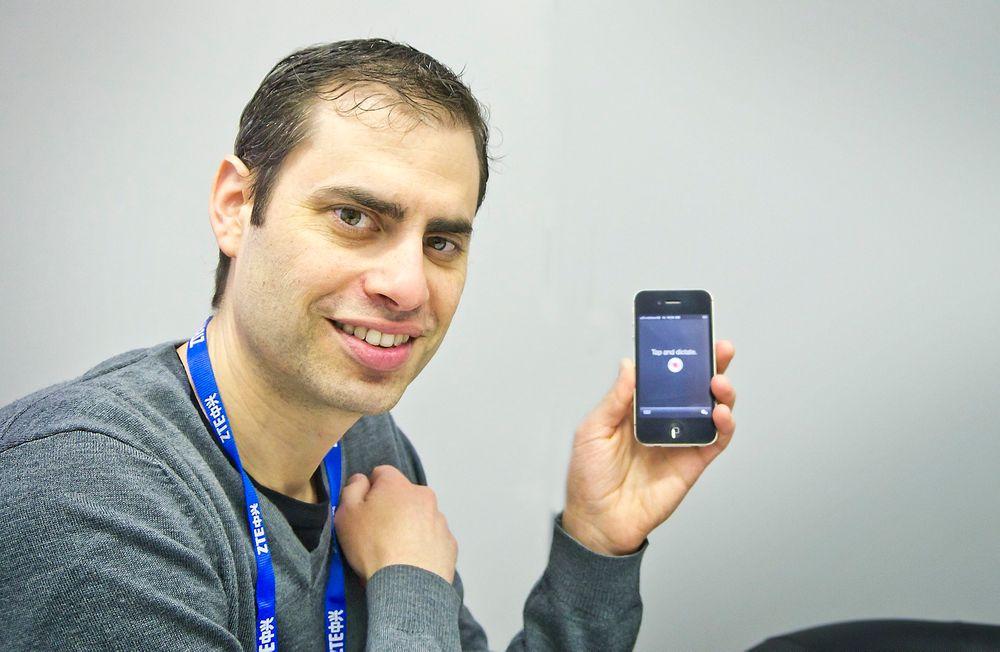 SUPERDUPER: Alle med smarttelefon må ta i bruk taletolkning. Dette er «superawesome» ifølge produktsjef i mobildivisjonen til Nuance, Matt Revis.
