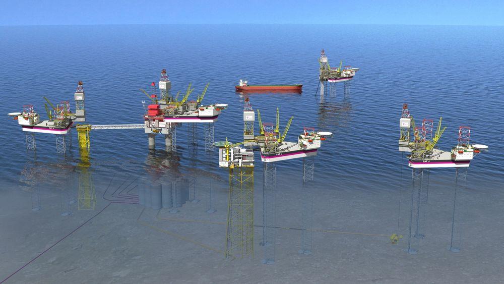 Tislig av rigger er en av hovedårsakene til det høye investeringsnivået SSB anslår for 2013. Illustrasjonsfoto av Statoils nye riggkonsept Cat J.