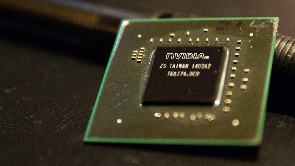 Nvidias nye Pascal-arkitektur går i produksjon i løpet av første halvår. På bildet ser vi en Maxwell-brikke fra selskapet.