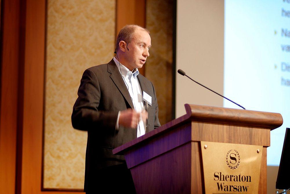 Statkraft-sjef Christian Rynnings-Tønnesen på Energi Norges vinterkonferanse i Warszawa.