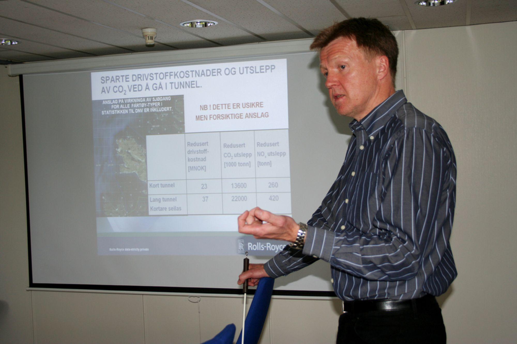 MILJØ: På vegne av Maritimt Forum Nordvest brukte Rolls-Royce sine eksperter til å vurdere Kystverkets konseptvalgsrapporter for Stad skipstunnel. En tunnel vil ha store miljømessige gevinster ved redusert drivstofforbruk.