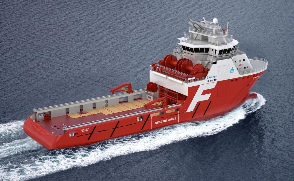 KARFT: Farstad Shipping har bestilt to AHTS med Rols-Royce UT 731 CD design fra STX OSV Langsten.