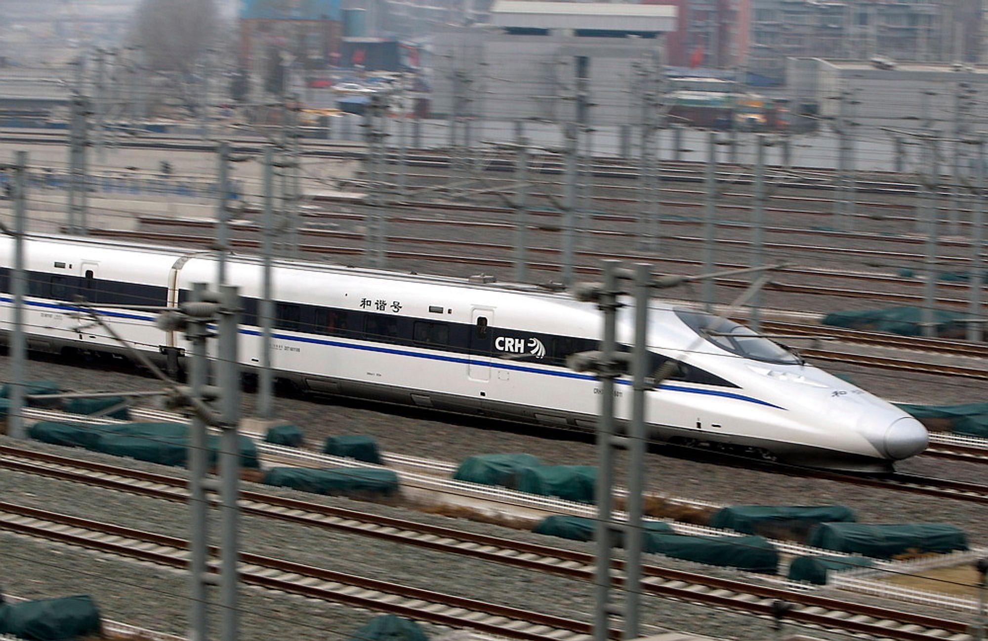 Kina har allerede bygd ut store strekninger for høyhastighetstog, og nye strekninger planlegges.