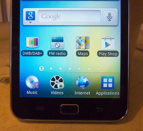 APPER:MiniTV fungerer som en app av mange på Android nettbrettet Galaxy S