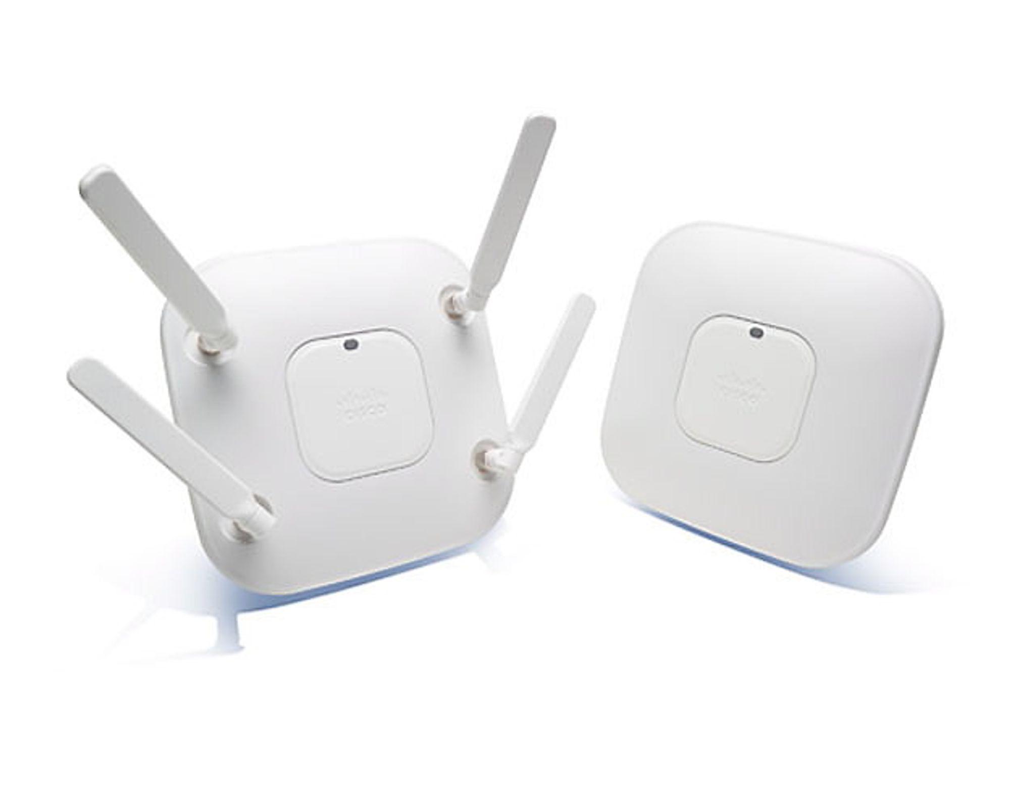 VERDENS RASKESTE: Ciscos nye trådløse ruter, Aironet 3600, skal gi fantastisk ytelse - og kommer i versjoner med utvendige og innvendige antenner.