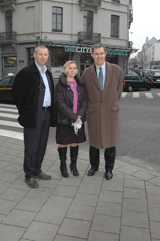 EU-møte Brussel, Frode Alfheim, Hilde-Marit Rysst, Alfred Nordgård