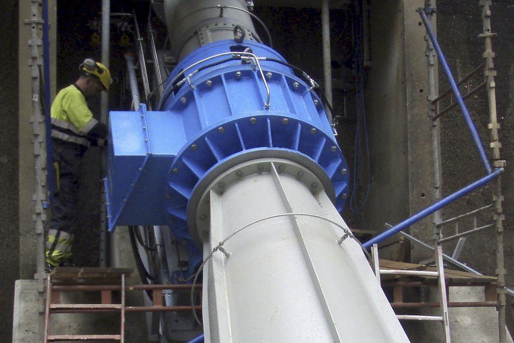 LAVT TRYKK: Cleanpowers Turbinator-aggregat er laget for småkraft med lave fallhøyder.