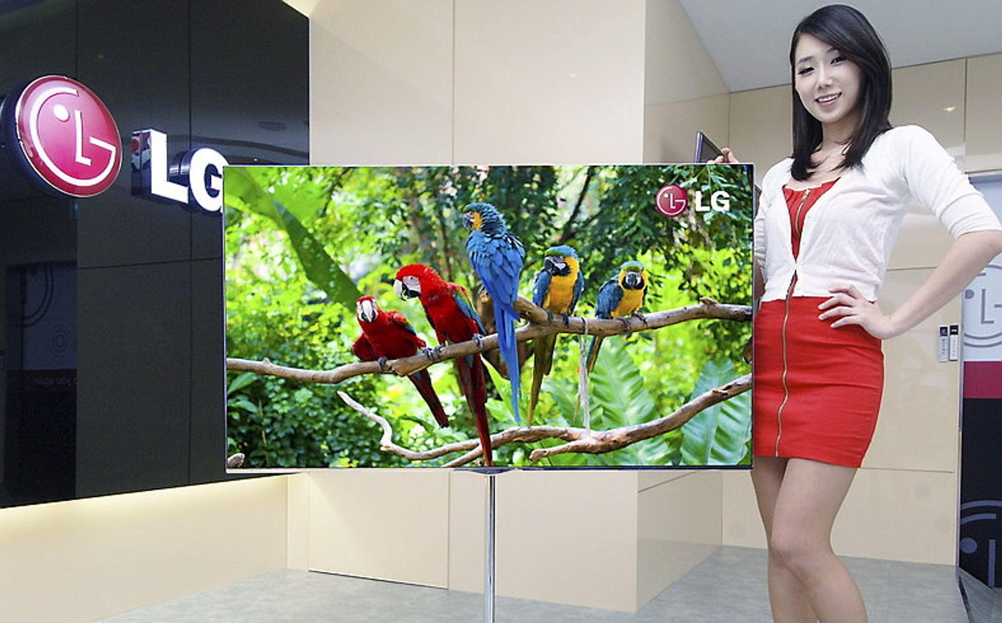 LGs 55-tommers OLED-TV er blant de store nyhetene på CES-messen i Las Vegas til uken.