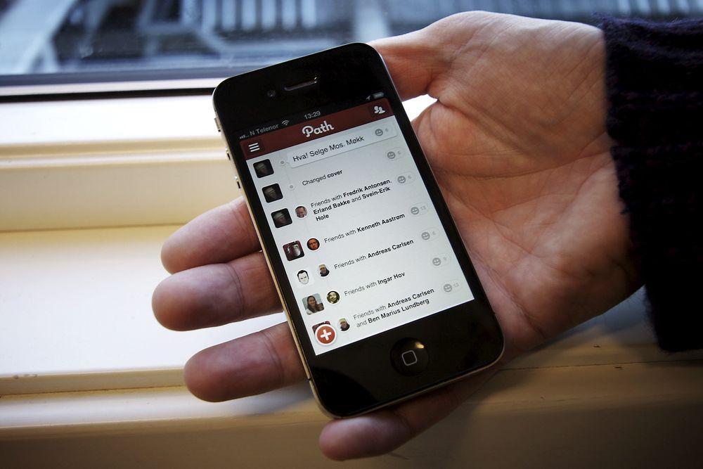 Path er en ren mobiltjeneste, utviklet for Android og iPhone.