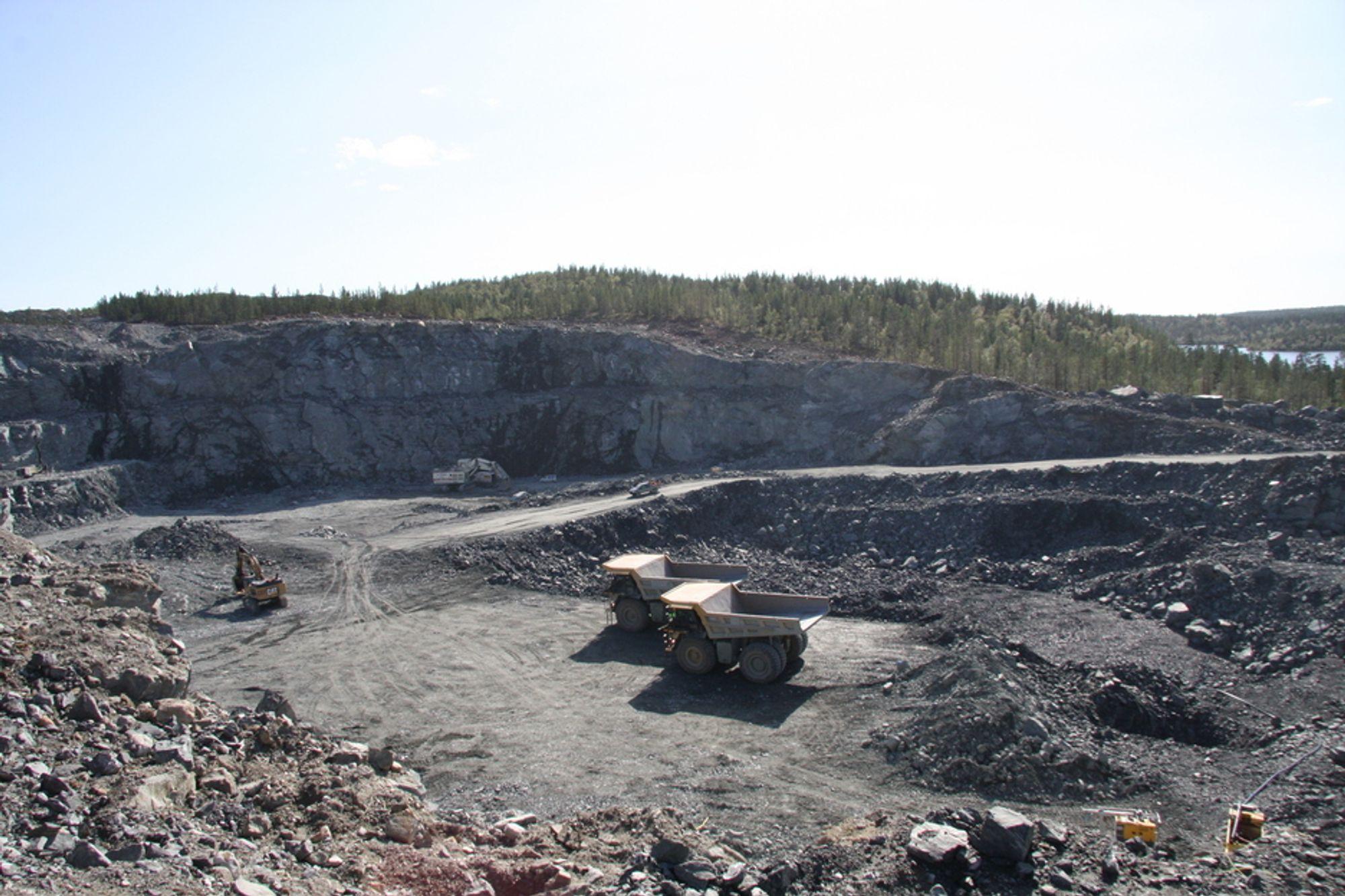 LITE ATTRAKTIVT: Norsk gruvedrift, her representert ved Sydvaranger gruve i Kirkenes, er lite attraktivt for mineralselskapene verden rundt.