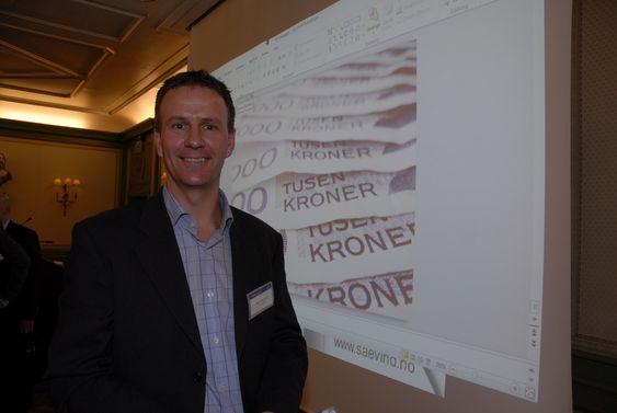 Administrerende direktør Anders Gaudestad i SAE Vind på Paretos kraftkonferanse.
