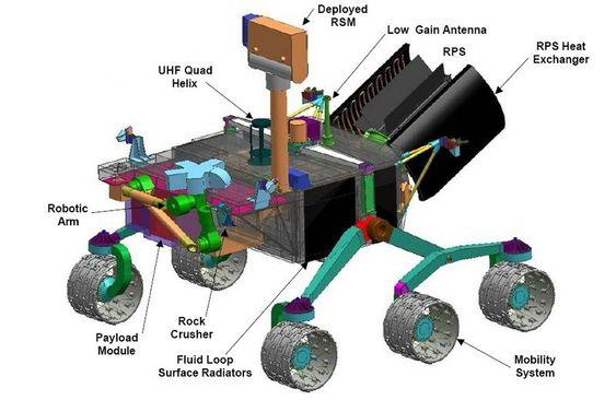RUSTET FOR LANGTUR: Romfartøyet har en kompleks konstruksjon.