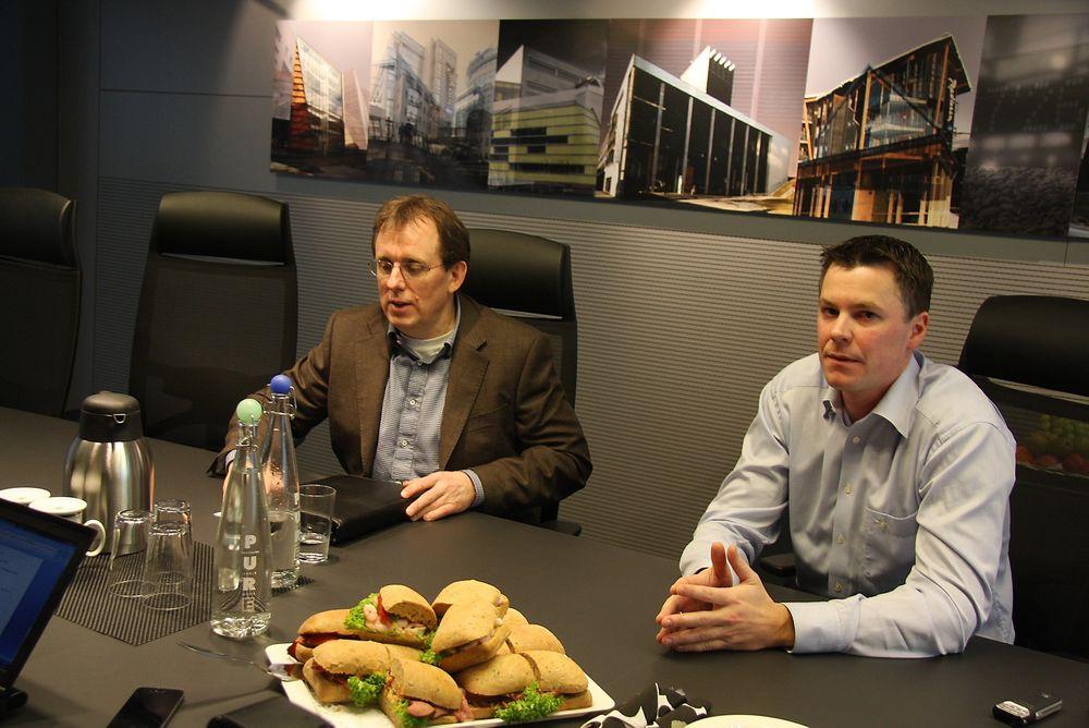 FORNY: Backegruppen satser nå på å markere seg tydeligere i ROT-markedet. Kurt Opseth, til venstre, har ansatt Magnus Hvam for å bygge opp og lede nysatsingen  Forny.