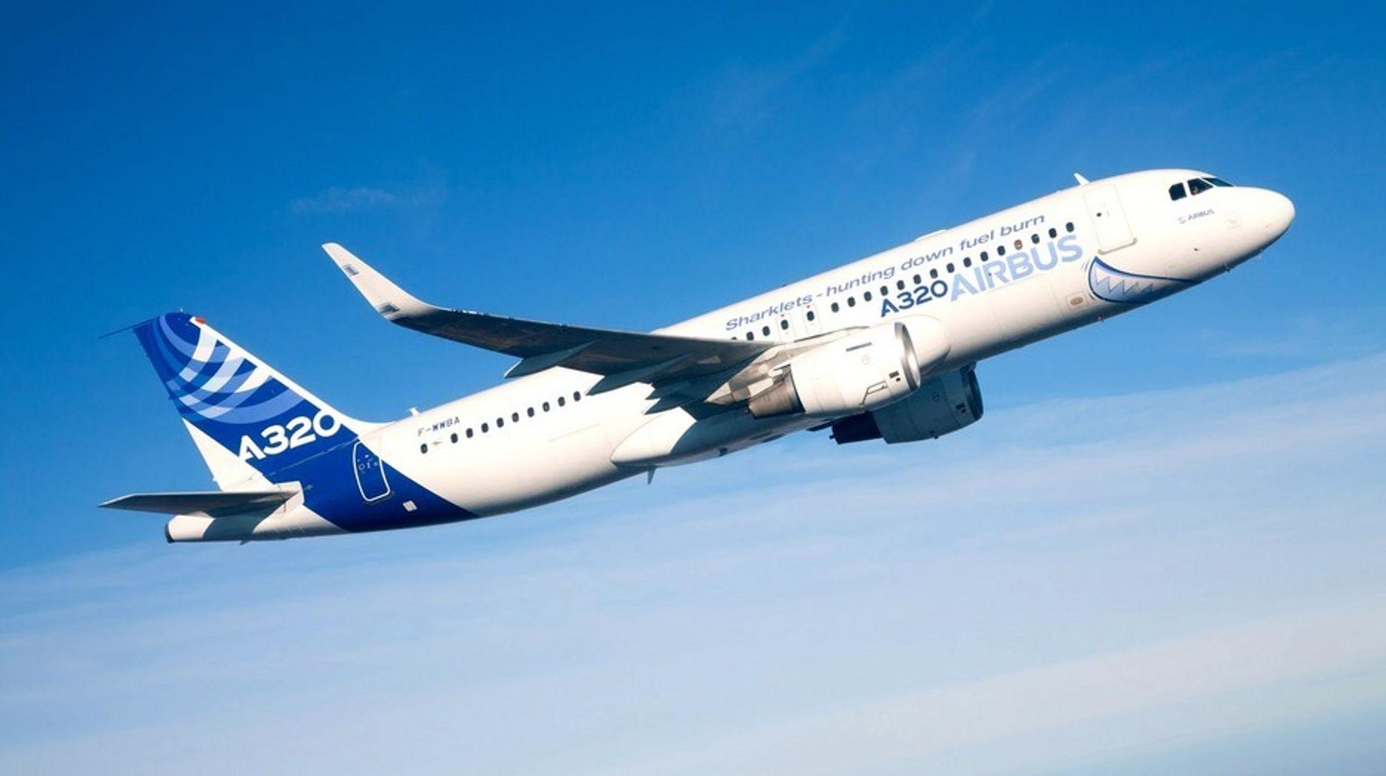 Airbus A320 rakk så vidt å fly med sharklets før 2011 var over.