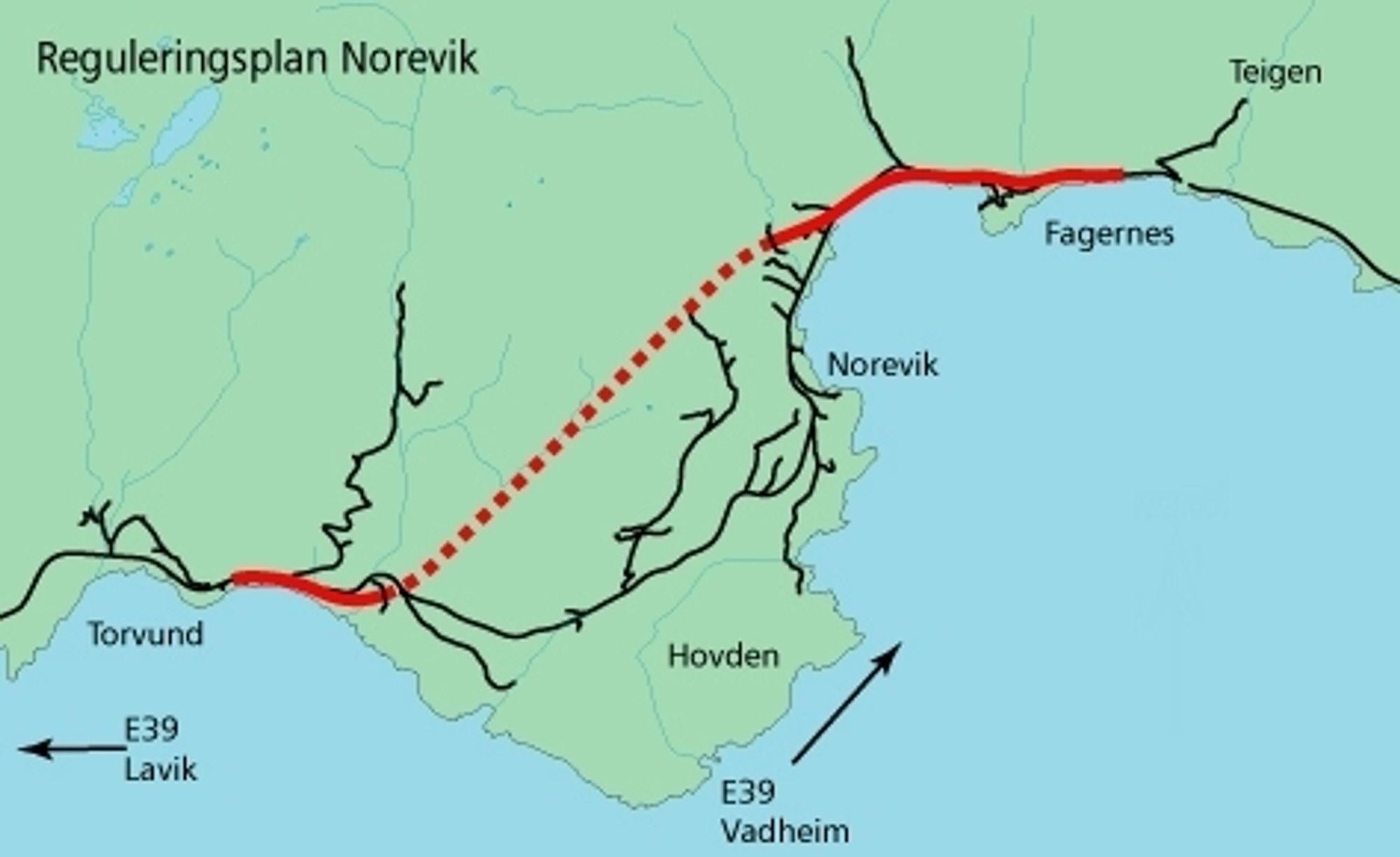 1. desember skal Noreviktunnelen være klar til bruk. Da blir en bratt og smal vegstrekning med mange farlige avkjøringer fjernet fra europavegnettet. Ill.: Statens vegvesen