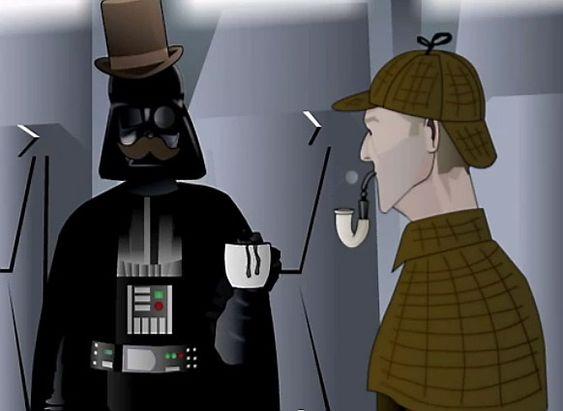 ELEMENTÆRT:  Darth Vader kler rollen som doktor Watson.