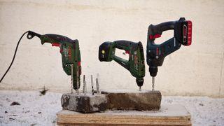 TEST: Driller til boring i mur og stein