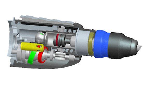 HAMMERVERK: Slik ser drillen ut på innsiden.