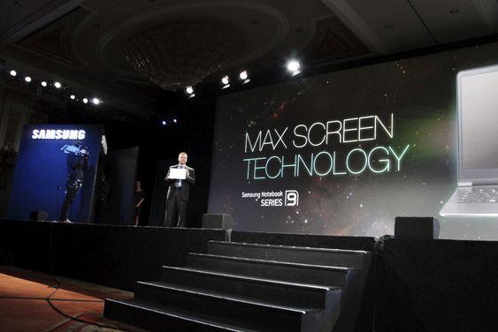 Samsungs Maxscreen-konsept gjør at 15-tommeren får plass i det som tradisjonelt har vært skallet til en 14-tommer.