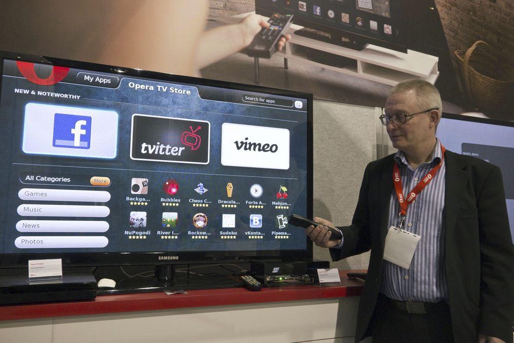 OPERA I TV-EN: - For oss er det viktig å være på alle plattformer, sier sivilingeniør Frode Hernes fra Opera Software.