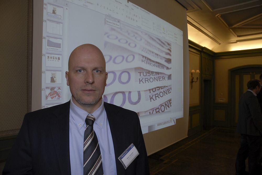 TUSENLAPPER KAN GÅ TAPT: Hvis ikke politikerne høyner kravet om fornybarutbygging i Norge og Sverige, kan det bli magre tider for vindkraftutbyggerne, ifølge administrerende direktør Arne Lorenzen i energiselskapet Norsk Vindkraft.