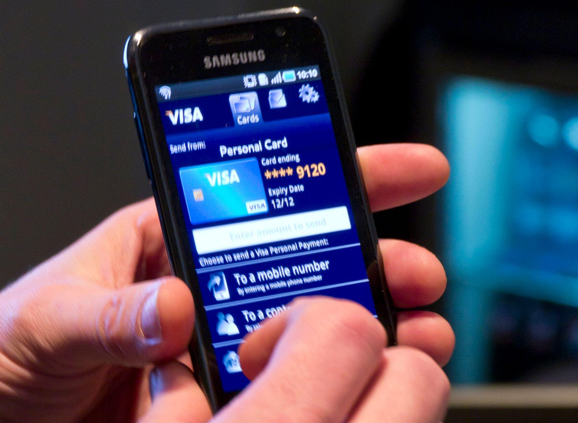 BETALE TIL PERSONER:Visas nye betalingstjeneste fra person til person vil gjøre det svært enkelt å overføre penger til folk.