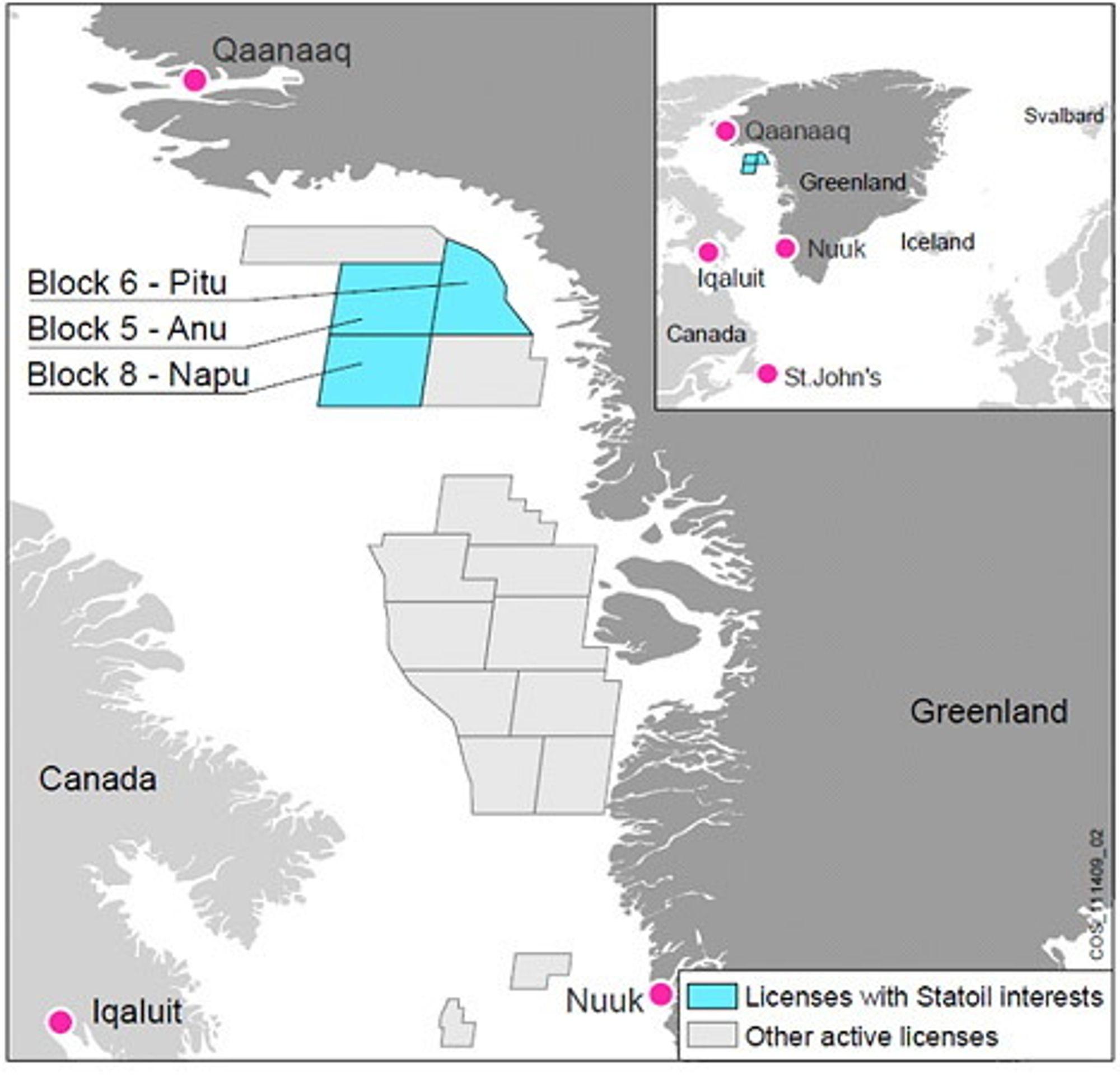 Lisenser Grønland Statoil