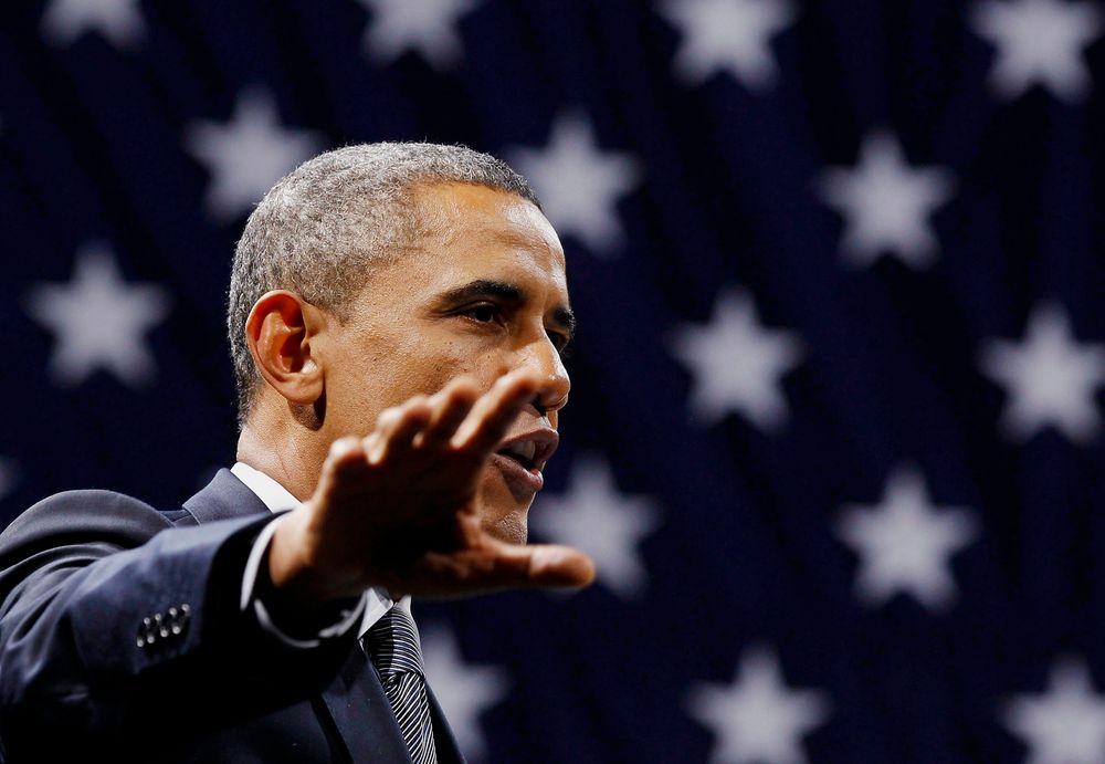 MER SKIFERGASS: Barack Obama er glad for at produksjonen av skifergass skyter fart i USA. Ifølge kilder vil energipolitikk bli hovedtema i hans tale om rikets tilstand i natt norsk tid.